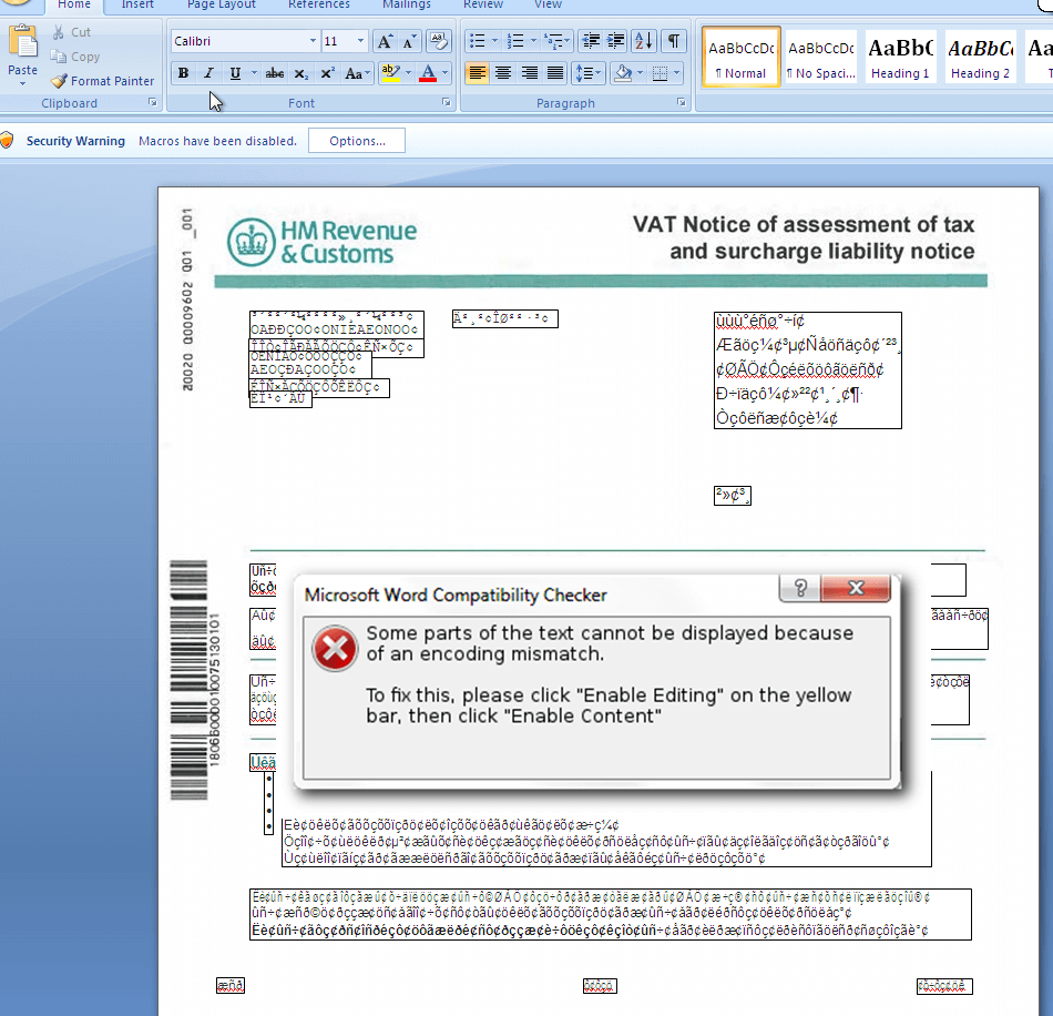 malicious macro word document