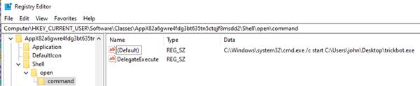 Figure 6 Registry Before WSReset