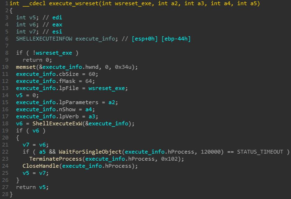 Windows 10 WSReset UAC Bypass