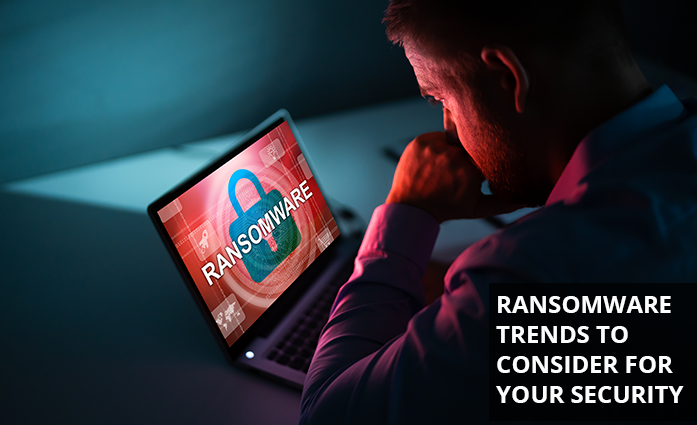 Man worrying about ransomware trends