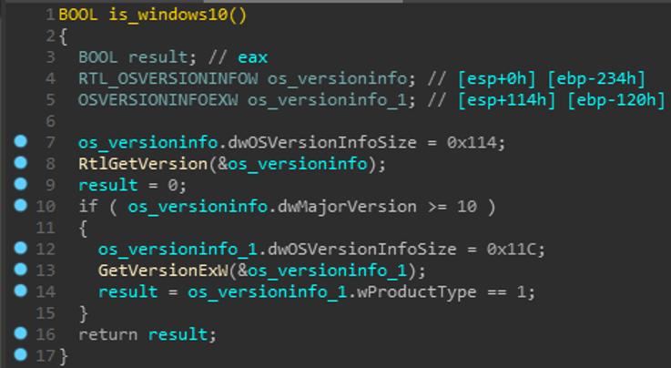 Figure 1 OS Version Check